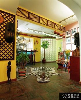 东南亚风格客厅隔断装修效果图大全2014图片