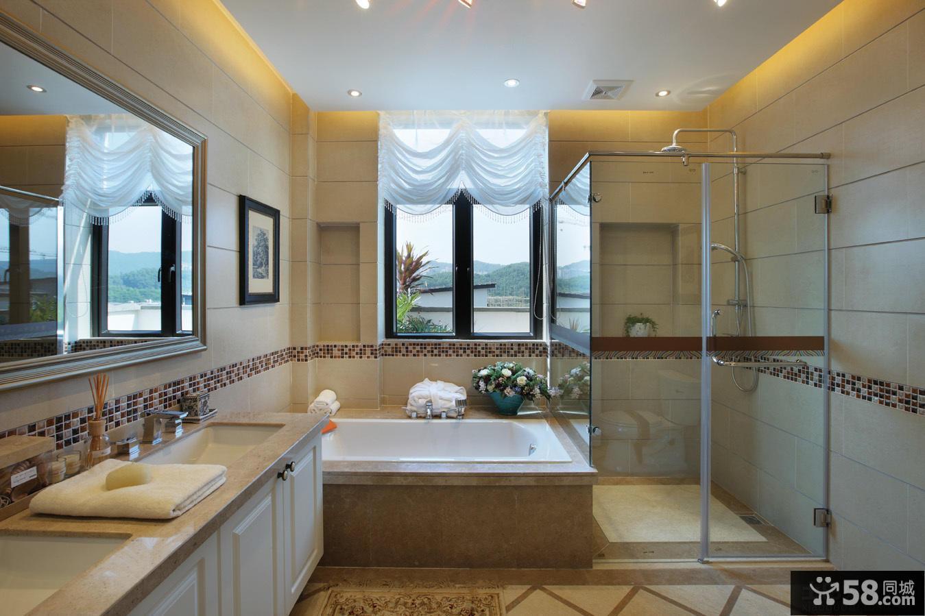 美式家庭设计卫生间图片2014