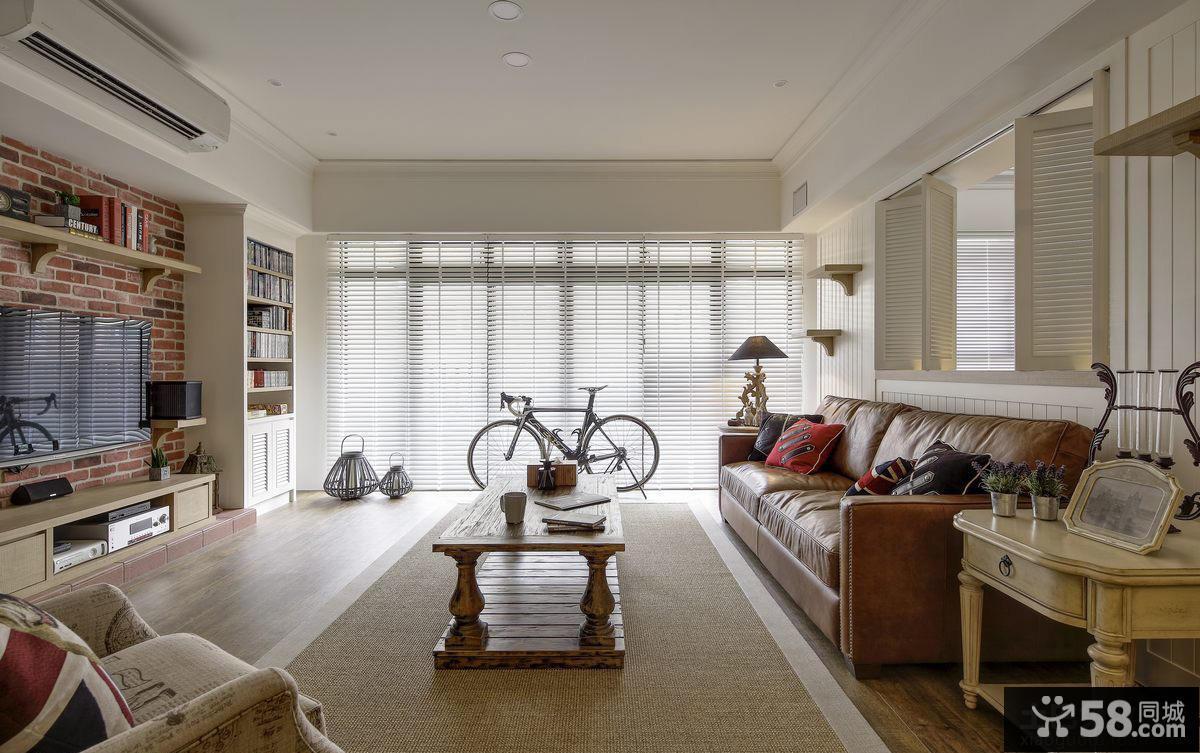 美式风格装饰120平米公寓图片大全