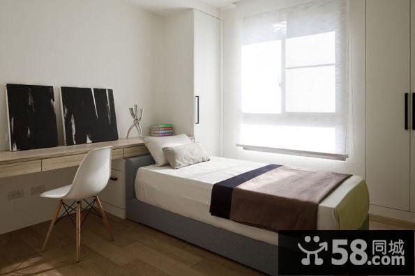 现代卧室飘窗