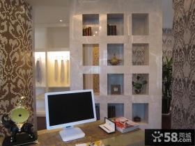 书房置物架装修效果图片欣赏