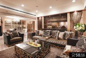 古典欧式风格四居室图片欣赏大全