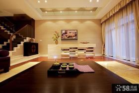 东南亚风格客厅家居装饰柜效果图