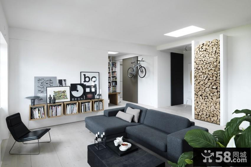 现代简约风格卧室背景墙