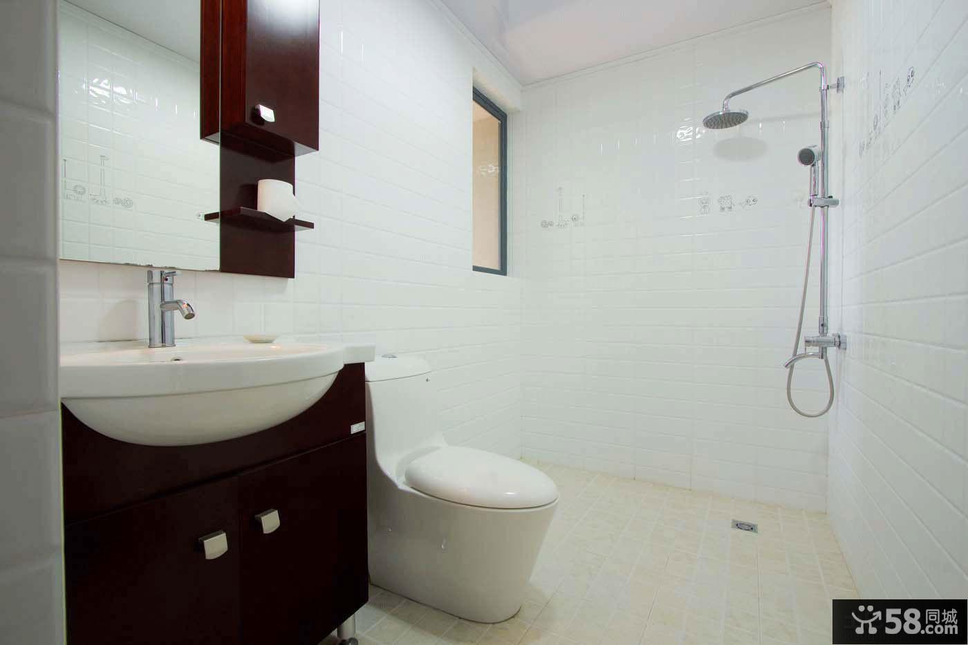 中式简约卫生间装修效果图片
