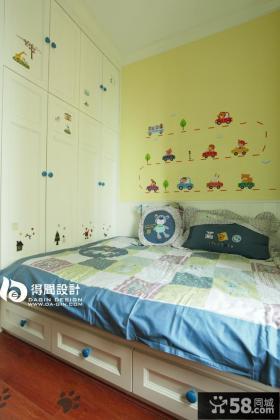 儿童房衣柜墙纸效果图