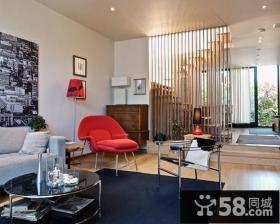 现代风格客厅隔断设计效果图
