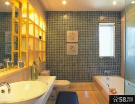 清新婉约的现代风格卫生间装修效果图大全2014图片