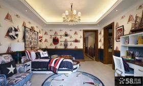 欧式家居儿童房色彩混搭装修效果图欣赏