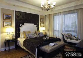 简欧家庭精装修卧室图片