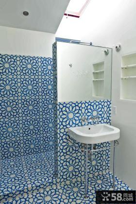 2013小户型卫生间瓷砖效果图
