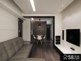 现代经典两居室装饰效果图