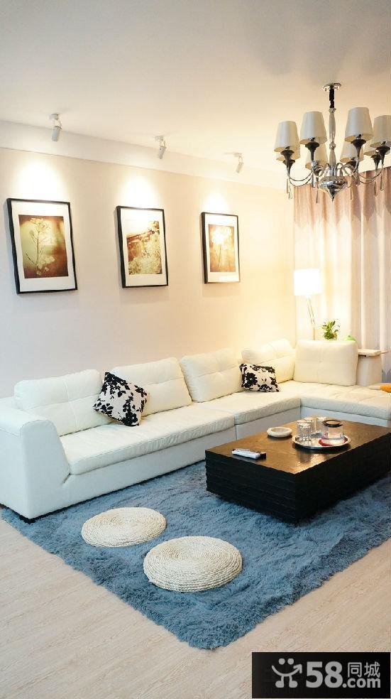 客厅沙发背景墙装饰画效果图
