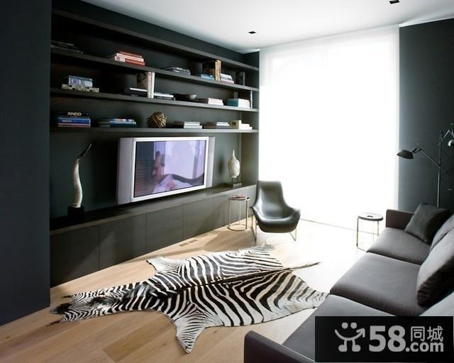 现代风格装修电视背景墙