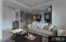 美式装饰三室两厅效果图