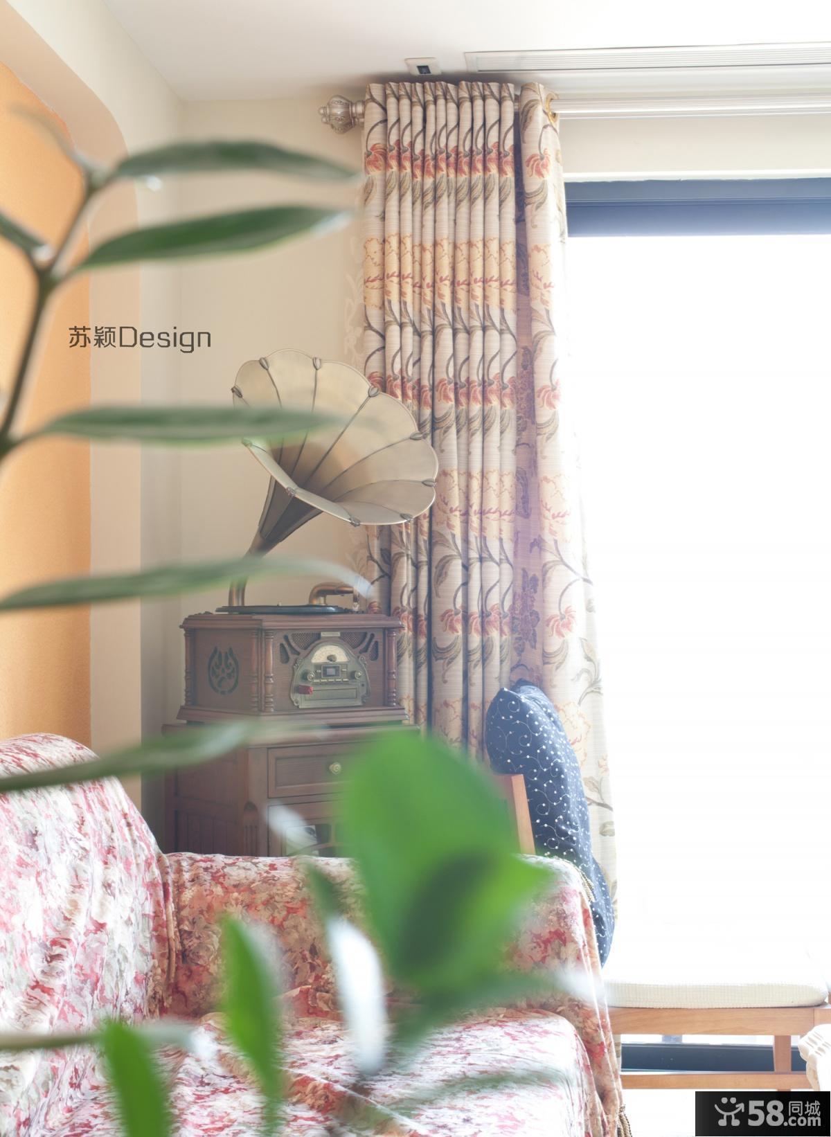 客厅窗帘效果图 窗帘图片