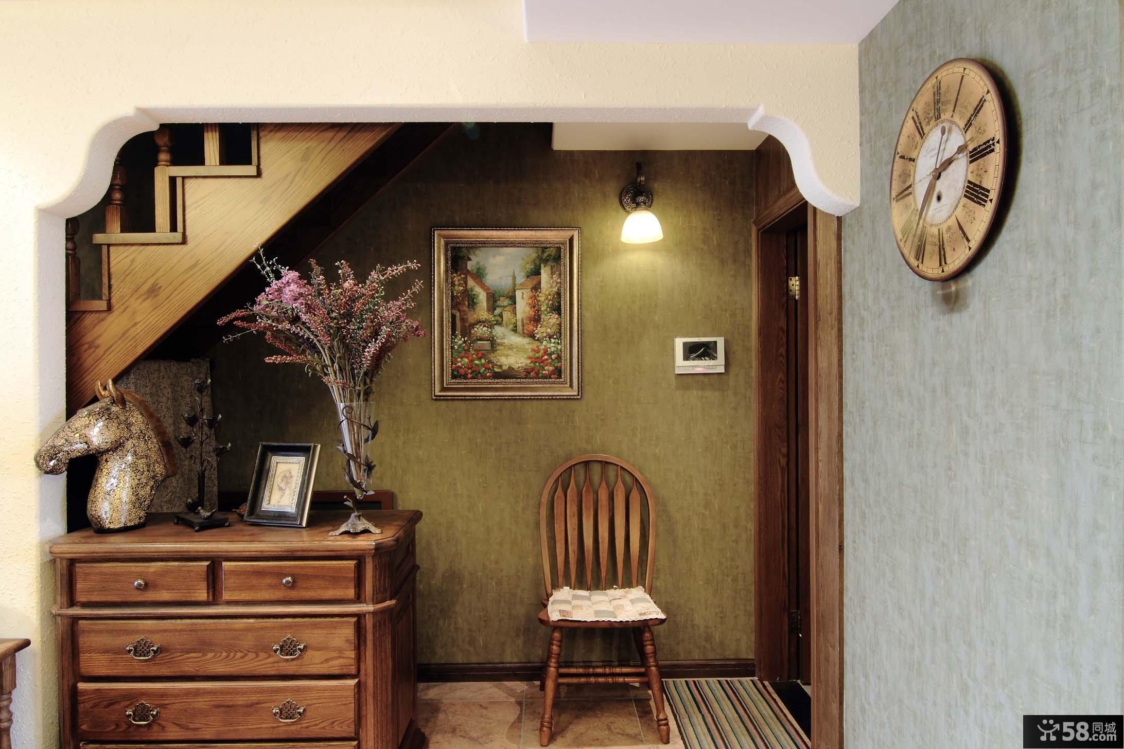 海悦蓝庭复式美式风格玄关装修效果图