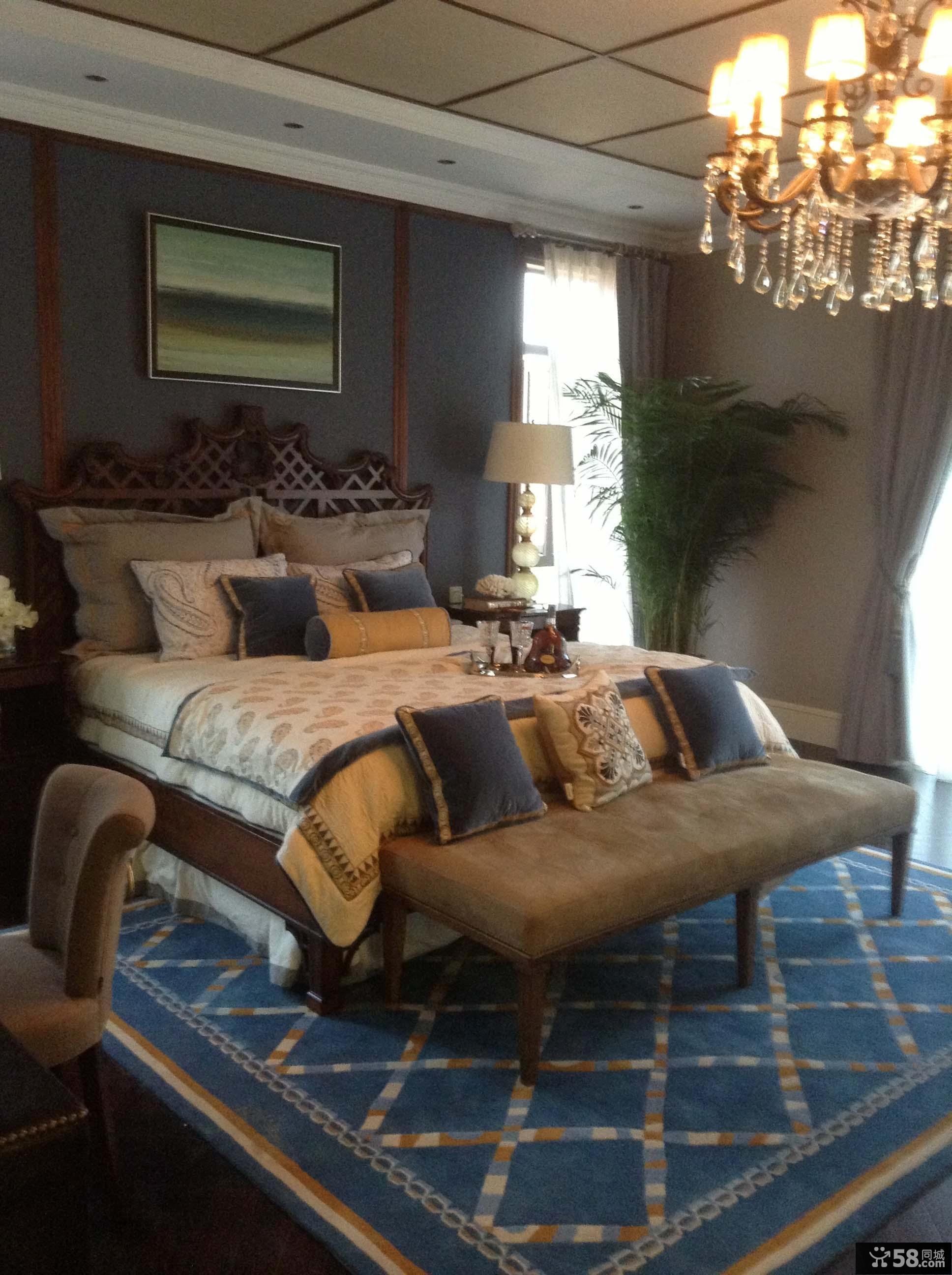 美式四居室卧室装修效果图