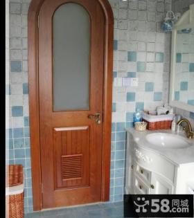 田园家居卫生间门图片欣赏