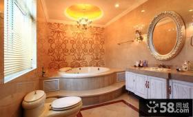 丽滩别墅豪华欧式风格卫生间装修效果图大全2014图片