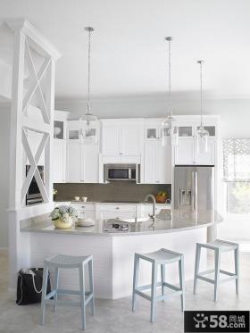 北欧风格厨房吧台设计效果图