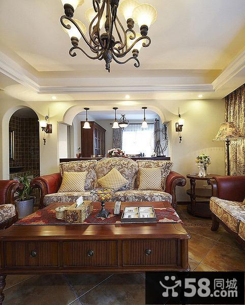 客厅中式背景墙效果图