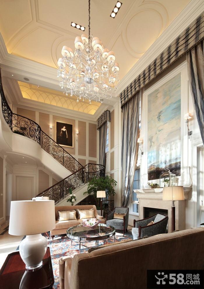 客厅吊顶装修欧式风格