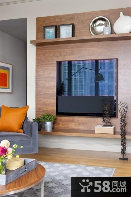 简约现代风格的电视背景墙