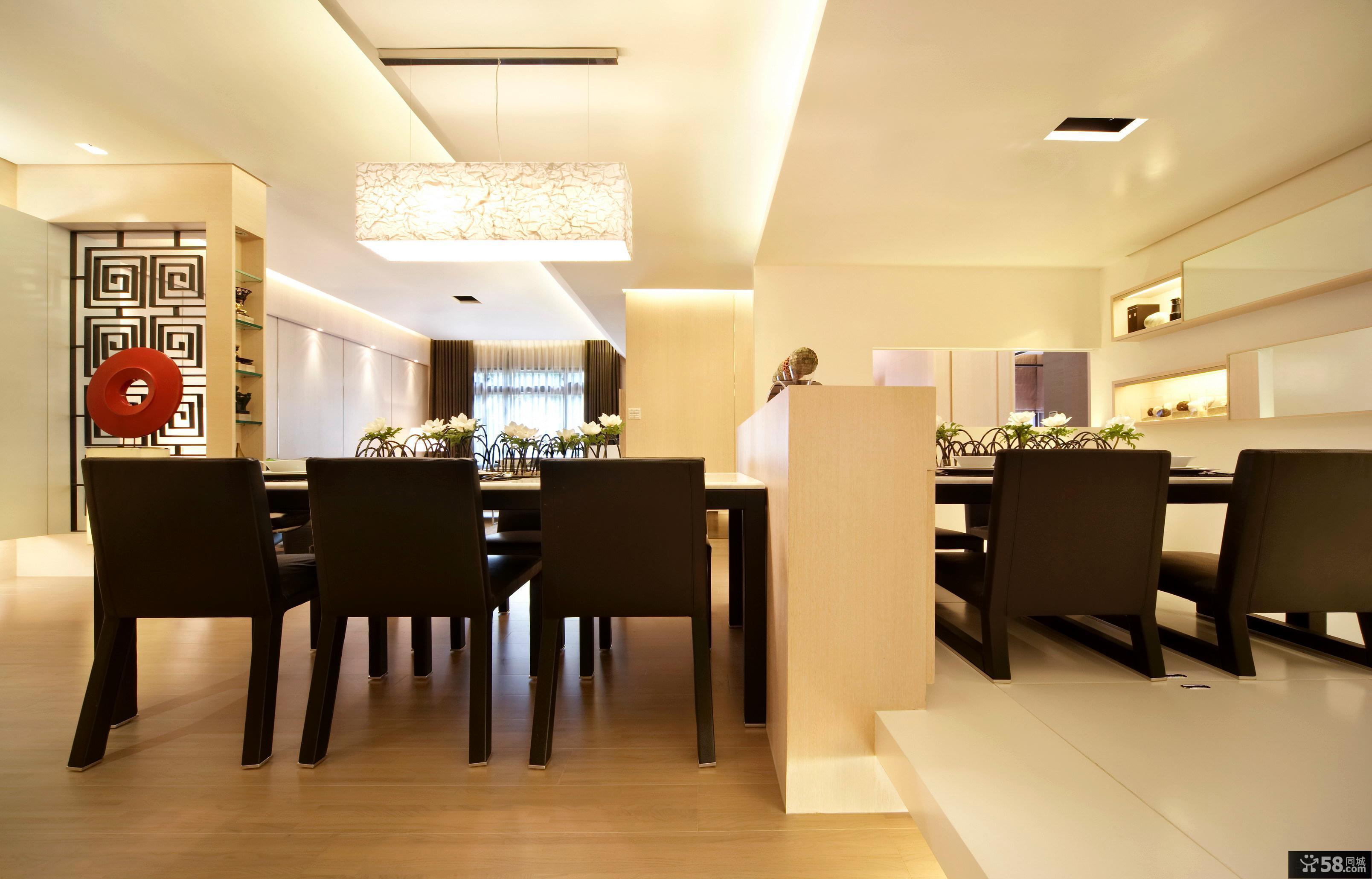 最新现代简约风格餐厅装修图片