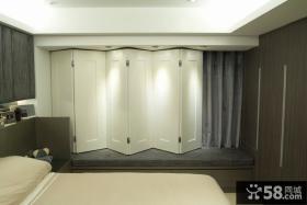 宜家风室内折叠屏风窗户隔断装饰效果图