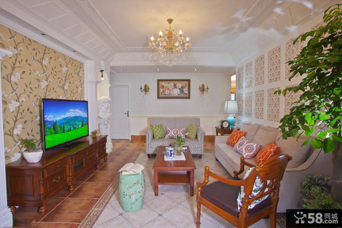 美式家居客厅装修效果图大全