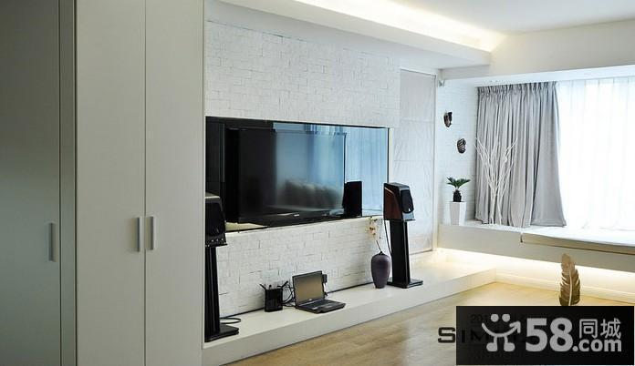 2013现代电视背景墙壁纸图片