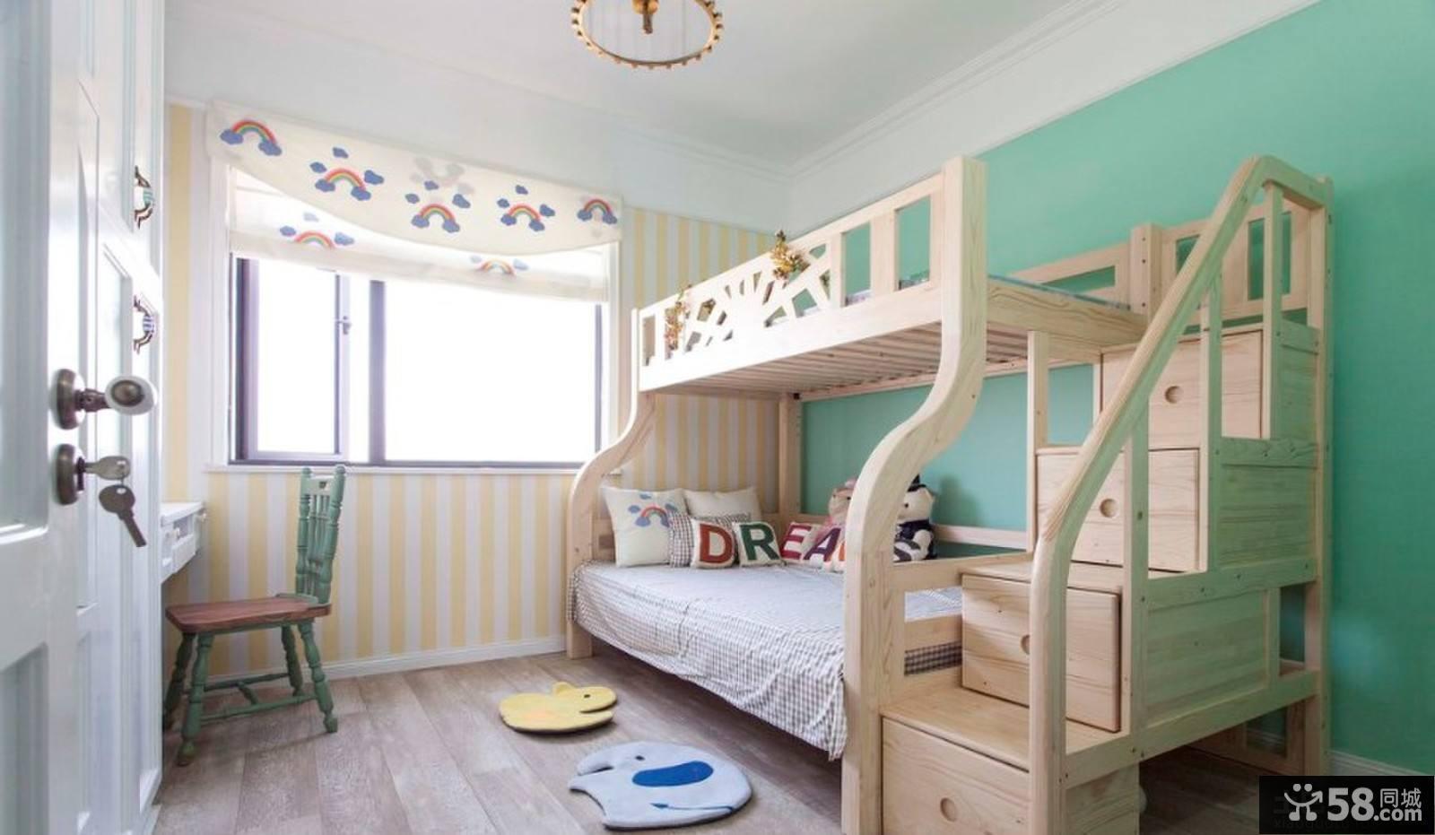 最新儿童房装修图片_最新上下铺儿童房装修效果图 - 58装修效果图