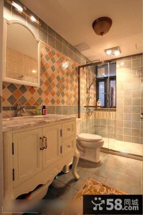 欧式风格卫生间瓷砖效果图