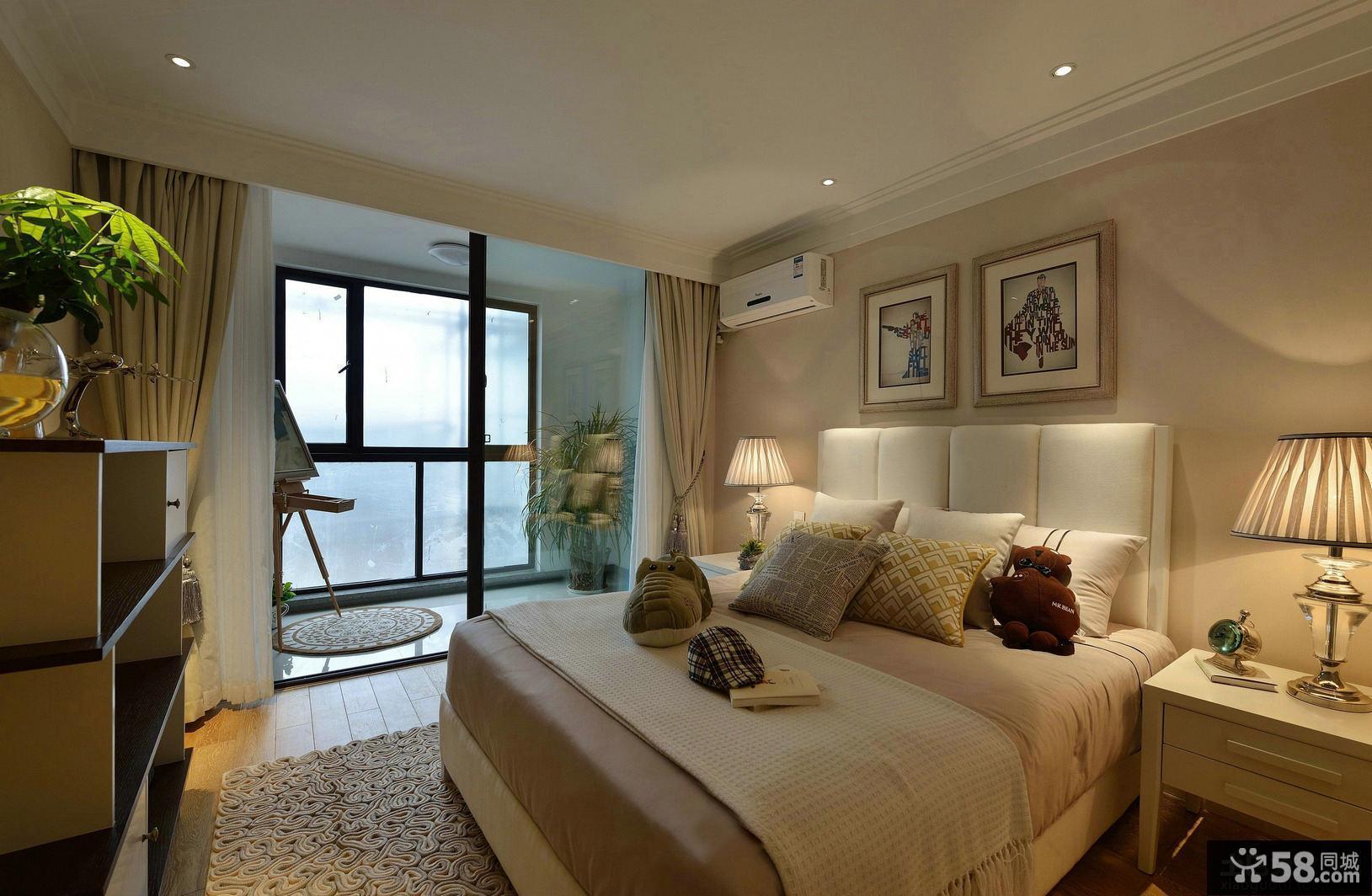 美式精装修居家卧室效果图片