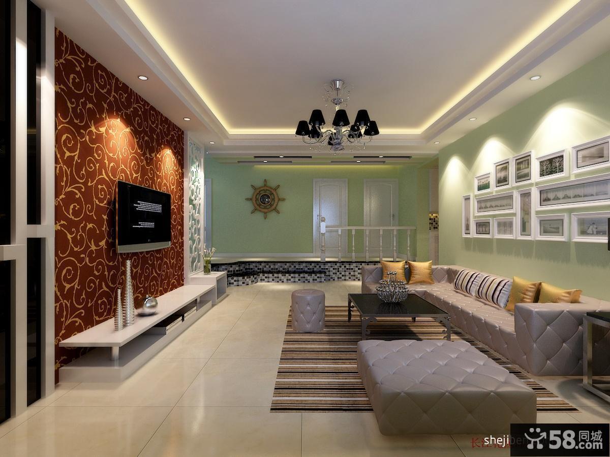 现代简约客厅装修设计效果图片欣赏