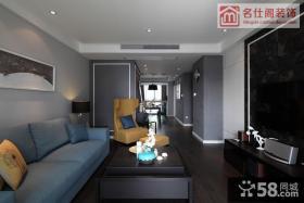 现代时尚三居室客厅装修效果图