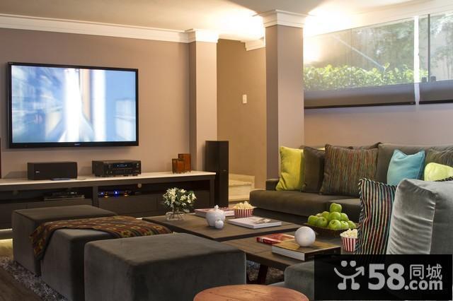 室内客厅电视背景墙