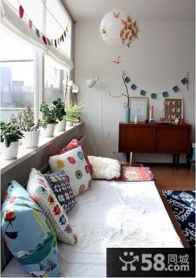 卧室小飘窗窗帘设计效果图
