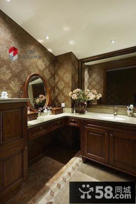卫生间实木浴室柜装修效果图大全