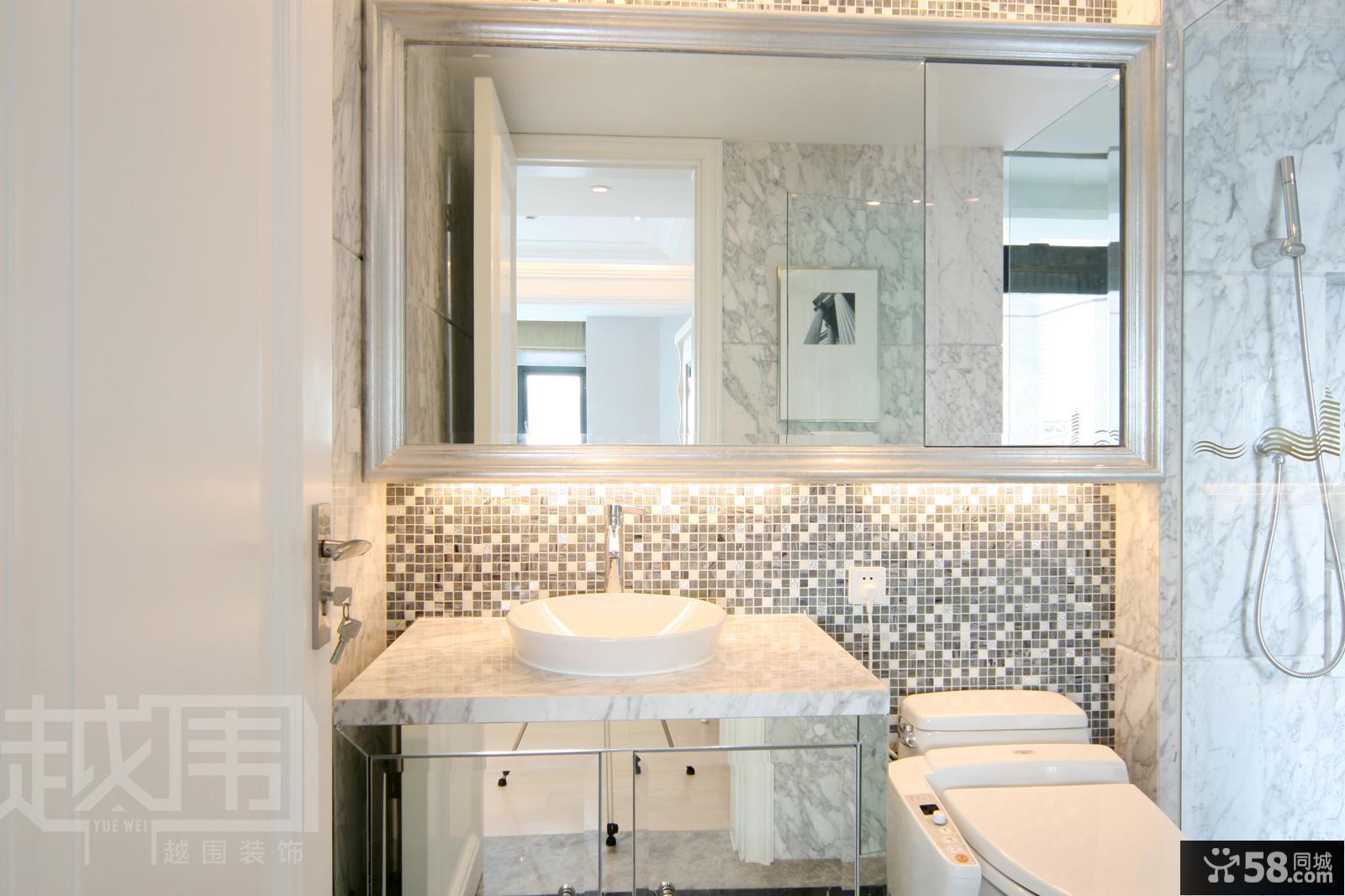 欧式风格卫生间洗手池装修效果图