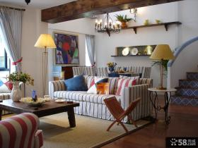 地中海风格客厅装饰效果图欣赏