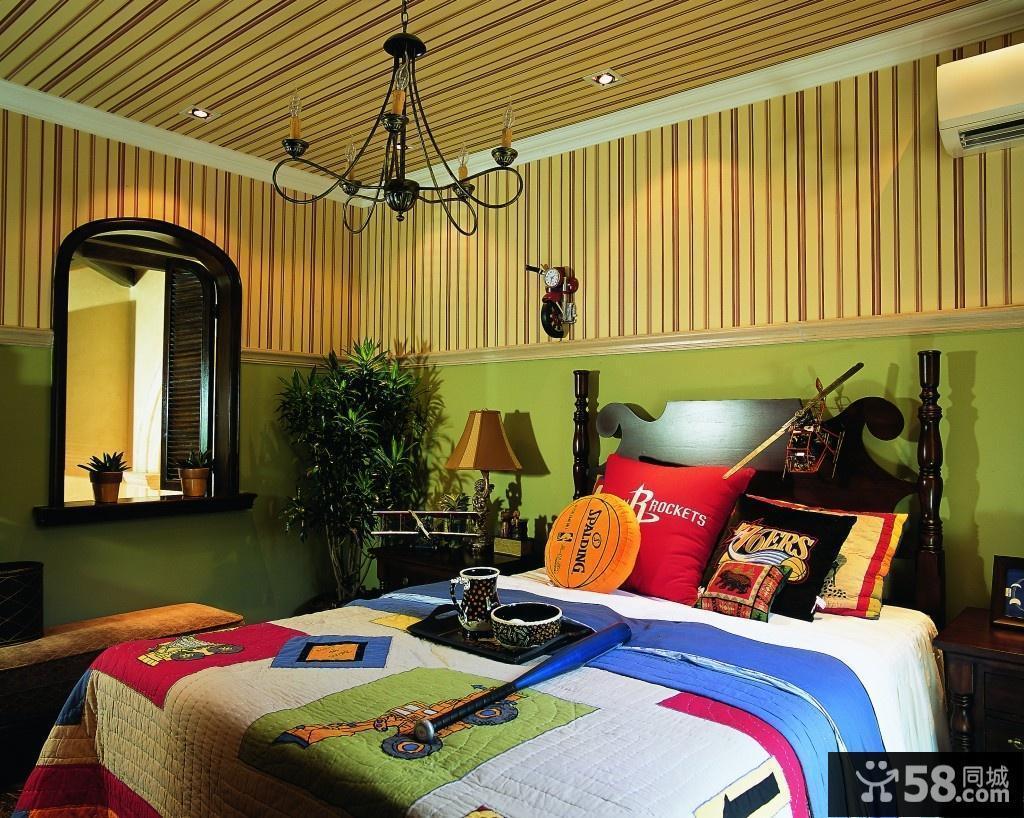 欧式吸顶灯卧室图片欣赏