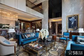 法式新古典风格客厅装修设计图片