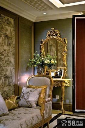 欧式新古典风格室内样板房图片