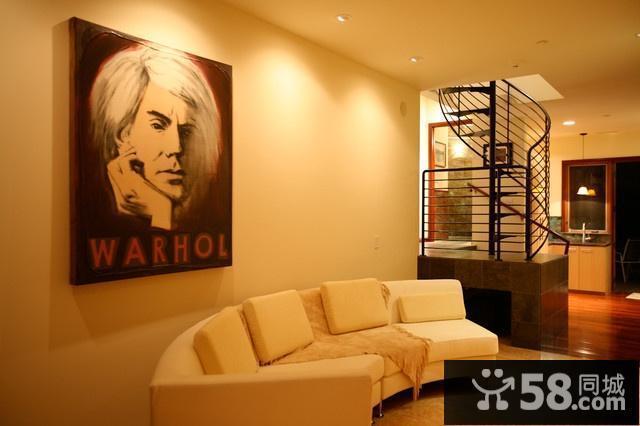 美式客厅电视墙效果图