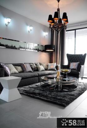 现代客厅家具摆放效果图片欣赏