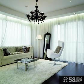 白色元素的后现代装修风格卧室图片