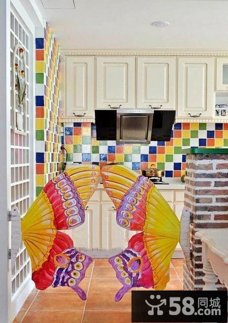 蝴蝶厨房隔断门效果图