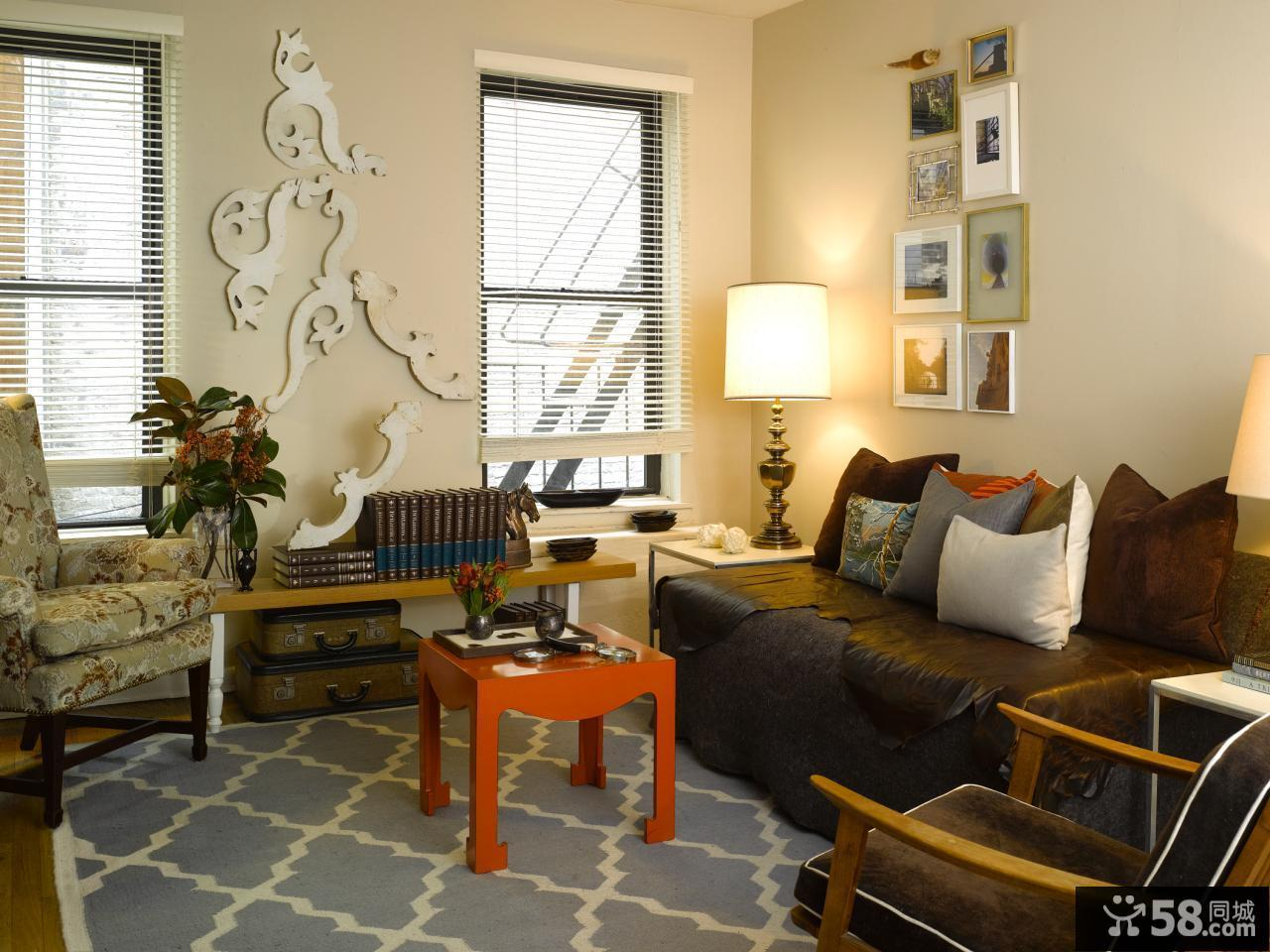 美式装修设计客厅效果图欣赏大全